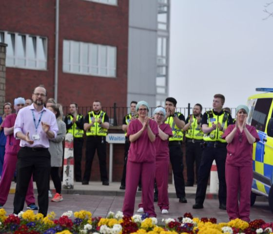 Police, NHS staff and John Howarth clapping 1.jpeg