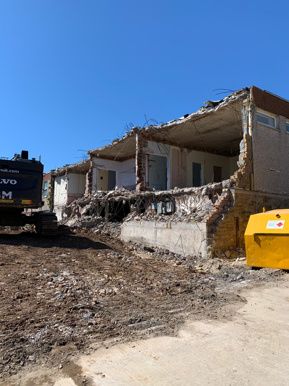 Demolition work continues at Whitehaven