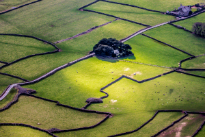 An aerial view of Wasdale in Cumbria
