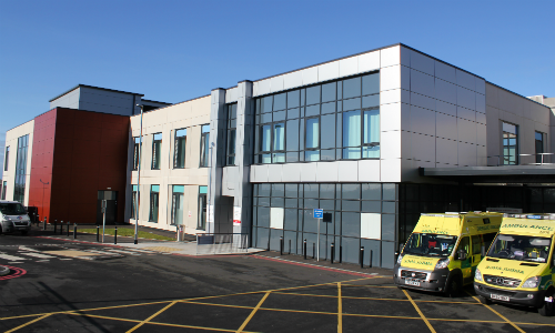 West Cumberland Hospital new building entrance